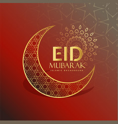 beautiful eid festival greeting card design vector image