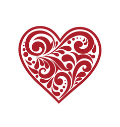Beautiful heart with a pattern vector