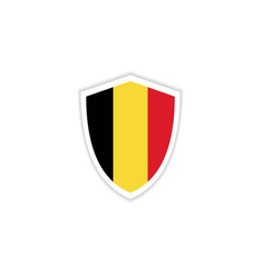 belgium flag emblem template design vector image