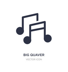Big quaver icon on white background simple vector