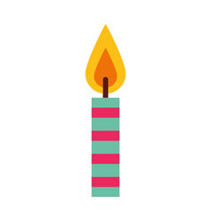 birthday candles isolated icon vector image