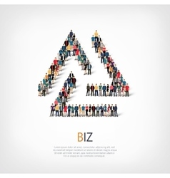 biz people sign 3d vector image