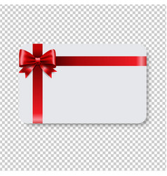 blank gift tag red ribbon bow transparent vector image