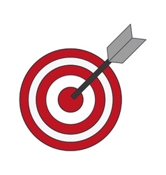 Bullseye and arrow icon vector