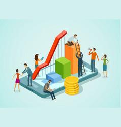Business concept teamwork finance infographics vector