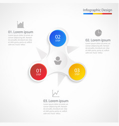 Business infographic design template with 3 steps vector
