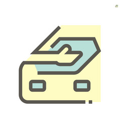 Car cloth rubbing work icon design 48x48 pixel vector