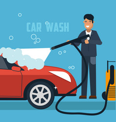 Car wash concept vector
