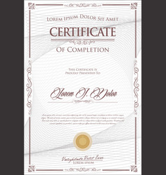 Certificate or diploma retro vintage design 3 vector