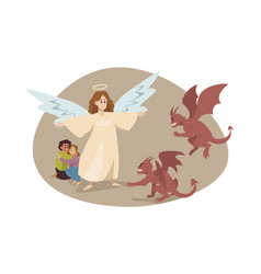 christianity religion protection devil care vector image