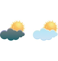 Cloud and weather icon vector