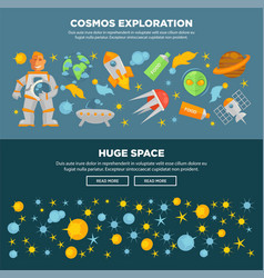 cosmos exploration and huge space promotional vector image