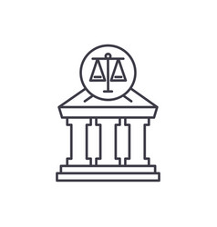 court line icon concept court linear vector image