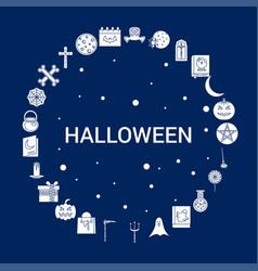 creative halloween icon background vector image