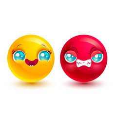 funny and angry emoji vector image