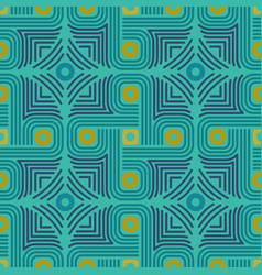 Geometrical ornament in aztec style vector
