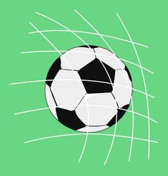 Goal in football match vector