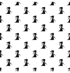 Grim reaper pattern simple style vector