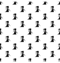Grim reaper pattern simple style vector image