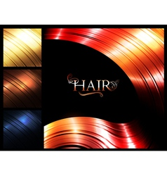 Hair palette banners vector