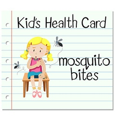 Health card with mosquito bites vector