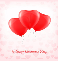 heart red transparent balloon vector image