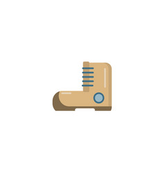 hiking boot flat icon vector image