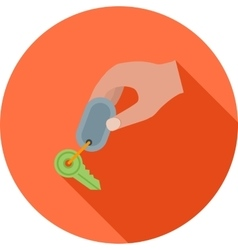 Holding Keys vector