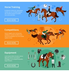 Horse Rising Sport Banners vector image