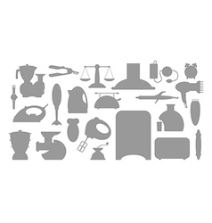 Household appliance icons set vector