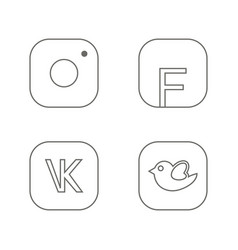 icons for social networking in line vector image