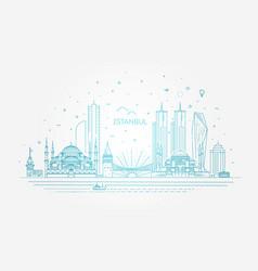 istanbul skyline vector image