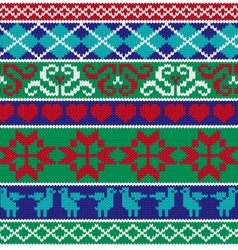 Knit border patterns vector
