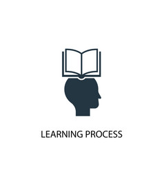 learning process icon simple element vector image