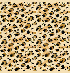 leopard skin seamless flat and solid color style vector image