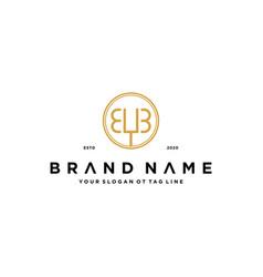 Letter eyb logo design concept vector