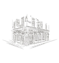 London Pub Sketch vector image