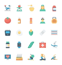 Medical and Health Colored Icons 6 vector