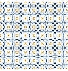 mediterranean decor pattern lisbon tile ornament vector image