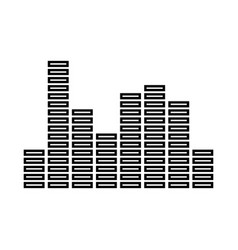 music equalizer black icon vector image