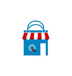 online store shopping online logo vector image