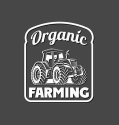 Organic farming eco tractor creative vector