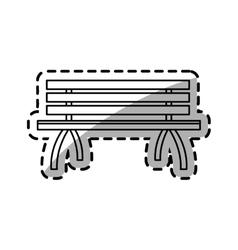 Park bench icon vector