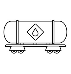 petrol wagon icon outline style vector image