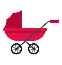 Pram icon isolated vector