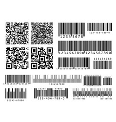 Product barcodes industrial barcode qr code vector