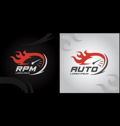 Rpm speed logo icon vector