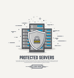 server protection line vector image