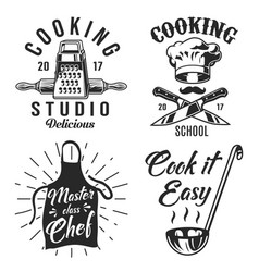set of cooking emblem vector image
