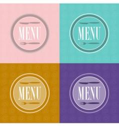 set of menu card designs vector image